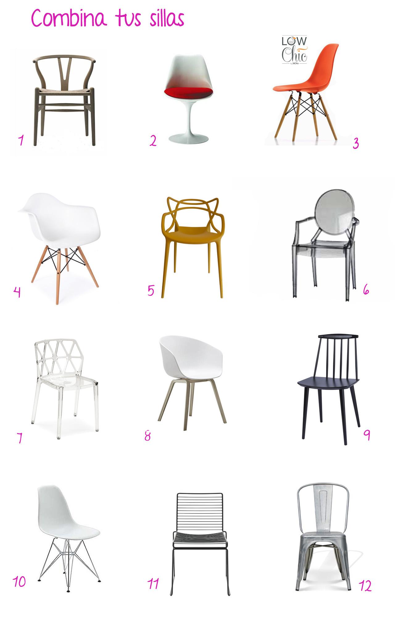Tendencia sillas desparejadas en el comedor la oca es for Buscar sillas