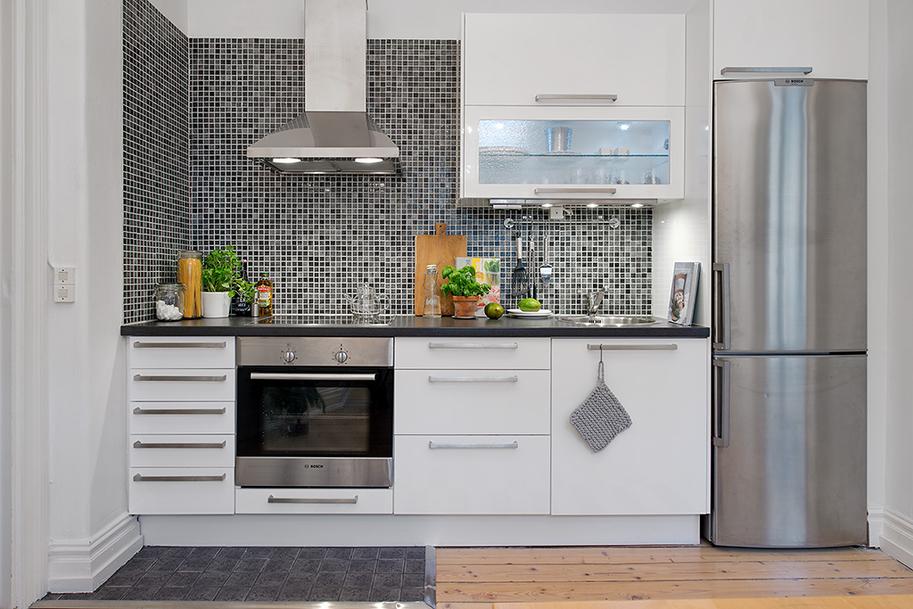 Dise o en pocos metros la oca es inspiraci n for Cocinas pequenas para apartamentos tipo estudio