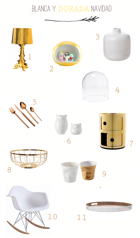 blanca y dorada